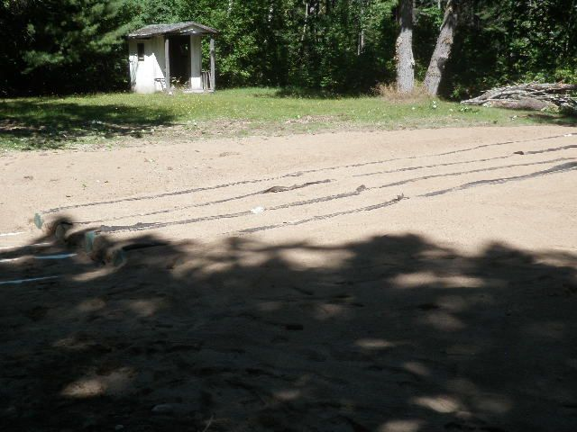 enviro-septic system covered in gravel