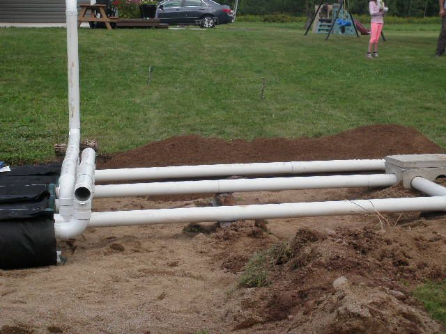pipes being installed on the ground