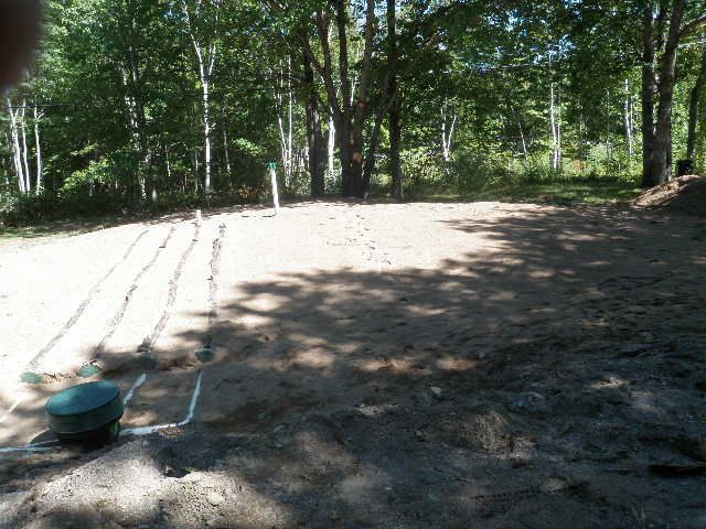 front view of installed enviro-septic system