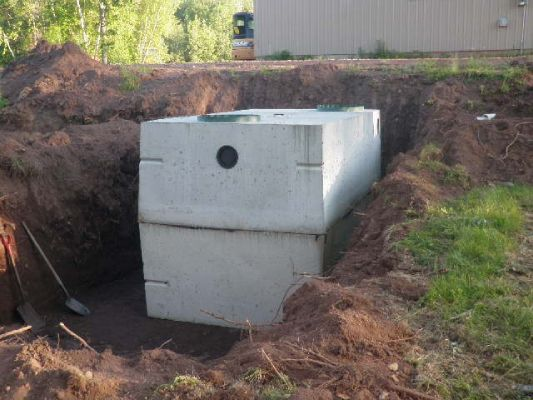View of installed septic tank
