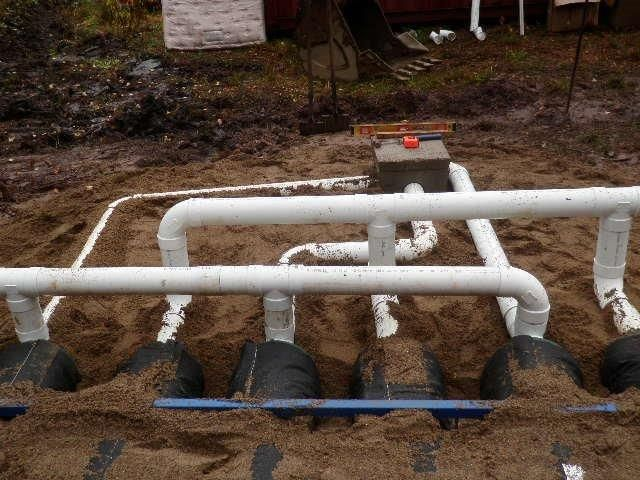 installed network of pipes