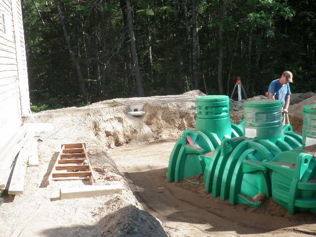 green colour septic tank