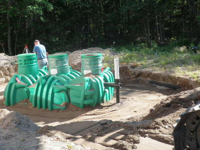green septic tank