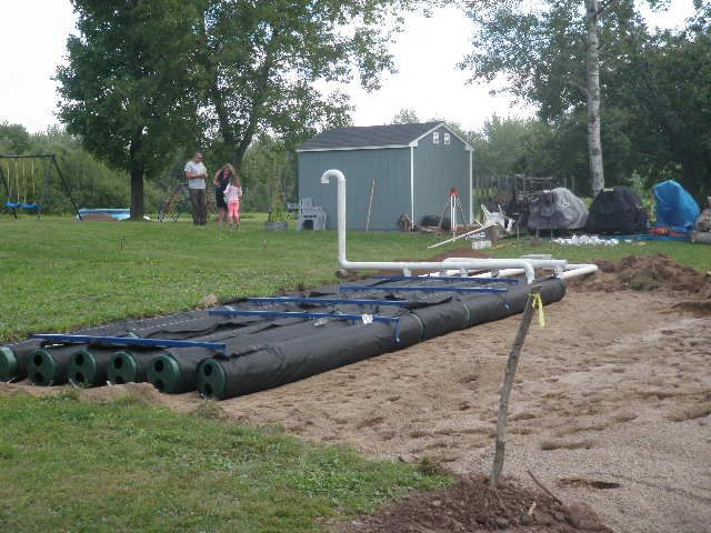 septic system being installed